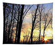 Happy Trails Sunset Tapestry