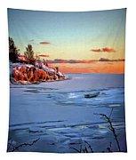 Harakka Island Sunset Tapestry