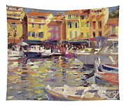 Harbor At Cassis Tapestry