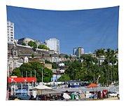 Harbor In Salvador Da Bahia Brazil Tapestry