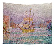 Harbour At Marseilles Tapestry