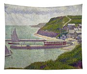 Harbour At Port En Bessin At High Tide Tapestry