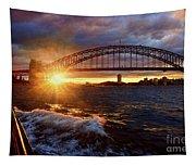 Harbour Bridge Sunset By Kaye Menner Tapestry