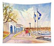 Harbour Of Cala Ratjada 01 Tapestry