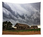Hard Days - Abandoned Home On West Texas Plains Tapestry