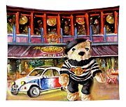 Hard Rock Cafe Teddy Bear From Paris Tapestry