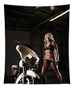 Harley Davidson Motorcycle Bikini  Tapestry