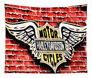 Harley Davidson Wings Tapestry