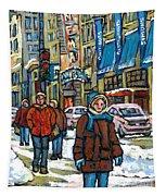 Achetez Les Meilleurs Scenes De Rue Montreal Best Original Art For Sale Montreal Streets Paintings Tapestry