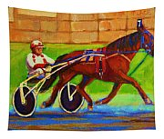 Harness Racing At Bluebonnets Tapestry
