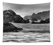 Harris Beach Oregon Monochrome Tapestry