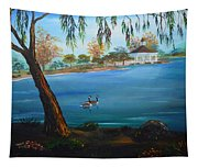 Harveston Lake Geese Tapestry