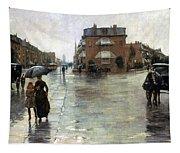 Hassam: Rainy Boston, 1885 Tapestry