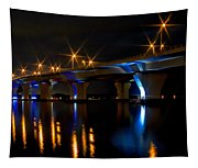 Hathaway Bridge At Night Tapestry