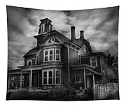 Haunted - Flemington Nj - Spooky Town Tapestry