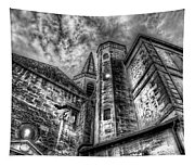 Haunted Church In Black And White Tapestry