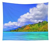 Hauru Point Moorea Tapestry