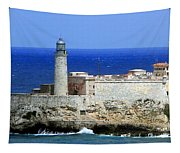 Havana Harbor Lighthouse Tapestry