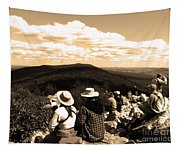 Hawk Mountain In Sepia Tapestry