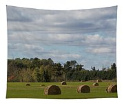 Hay Bale Pano Tapestry