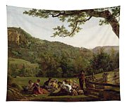 Haymakers Picnicking In A Field Tapestry