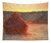 Haystacks At Sunset Tapestry