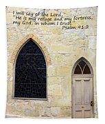 He Is My Refuge Tapestry