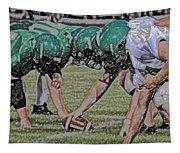 Head To Head Digital Art Tapestry