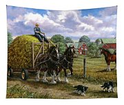 Heading For The Loft Tapestry