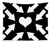 Heart And Arrows Tapestry