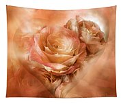 Heart Of A Rose - Gold Bronze Tapestry