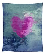 Heart Waves Tapestry