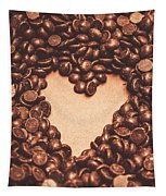 Hearts And Chocolate Drops. Valentines Background Tapestry