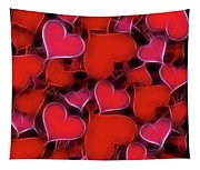 Hearts Collage Tapestry