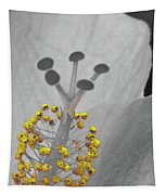 Heavenly Hibiscus Bw Yellow 12 Tapestry