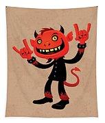 Heavy Metal Devil Tapestry