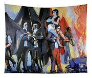 Helion: Paris Riots, 1968 Tapestry