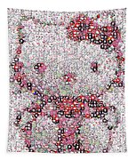 Hello Kitty Button Mosaic Tapestry