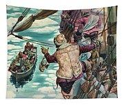 Henry Hudson Being Set Adrift Tapestry