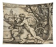 Hercules Killing The Nemean Lion Tapestry