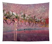 Here Comes Santa Claus Tapestry