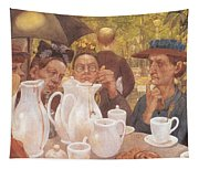 Here The Family Can Make Coffee Tapestry