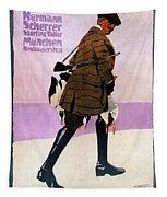 Hermann Scherrer Sporting Tailor - Munich, Germany - Vintage Advertising Poster Tapestry