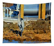 Heron Along The Shore Tapestry