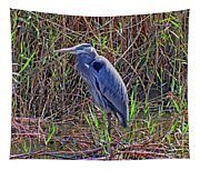Heron In Marshes Tapestry
