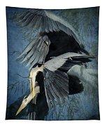 Heron Love  Tapestry