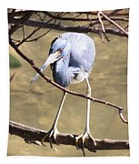 Heron On Branch Tapestry