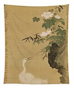 Herons And Cotton Roses Tapestry