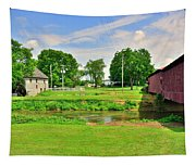 Herr's Grist Mill And Covered Bridge Tapestry