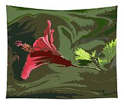 Hibiscus Dark And Light Photopainting 1 Tapestry